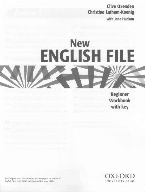 new english file elementary решебник